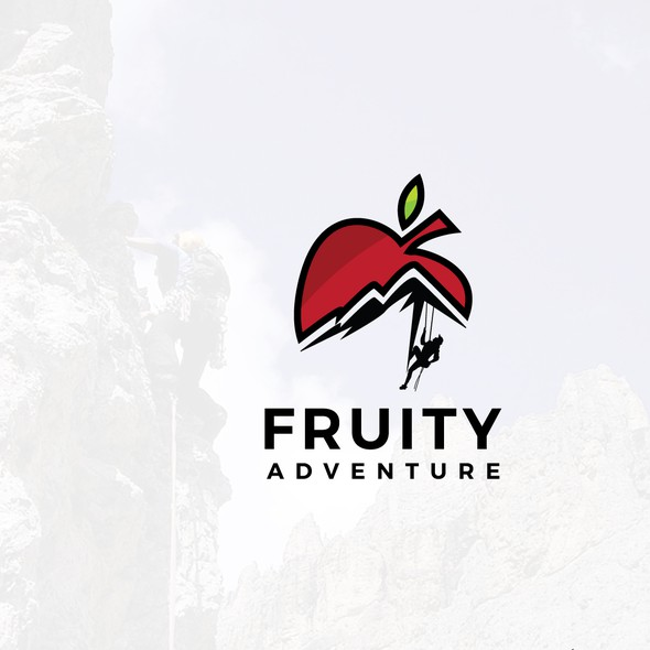 Fruit logo with the title 'Adventure enthusiasts'