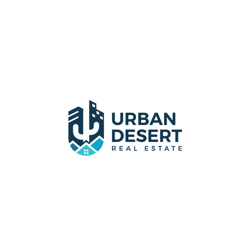 """Desert design with the title 'Design trendy and eye catching logo for """"Urban Desert Real Estate"""" - An Arizona based company'"""