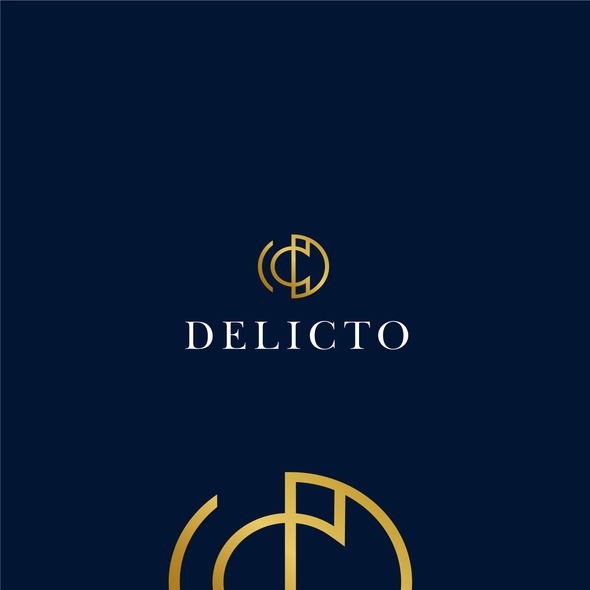 Sex shop logo with the title 'Delicto'