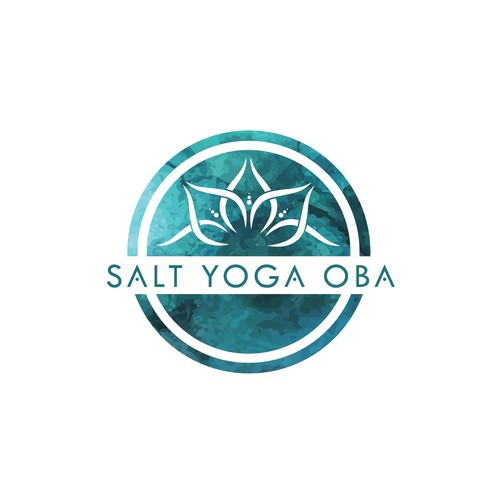 Peaceful design with the title 'Salt Yoga Oba'