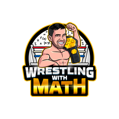 Teacher logo with the title 'Wrestling With Math Logo'
