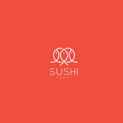 Sushi logo with the title 'Simple logo for restaurant  'Sushi Today''