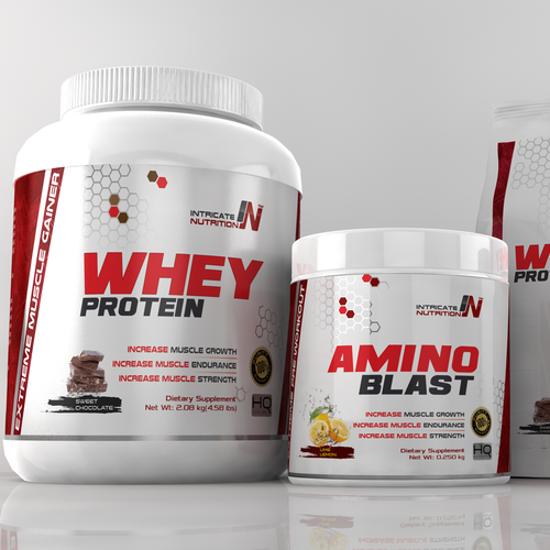 Cinema 4D design with the title 'Logo and Label design for Intricate Nutrition'