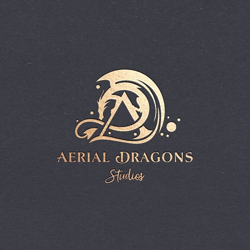 Dance logo with the title 'Aerial Dragons Studio'