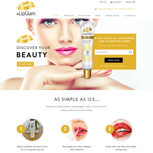 Cosmetics website with the title 'cosmetic'