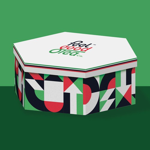 Product packaging with the title 'Packaging design for UAE national day. Feel Good Tea. '