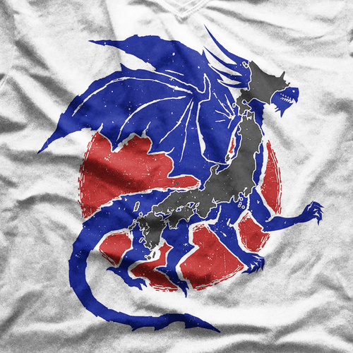 Sun t-shirt with the title 'Make Japan into a Dragon T-shirt'