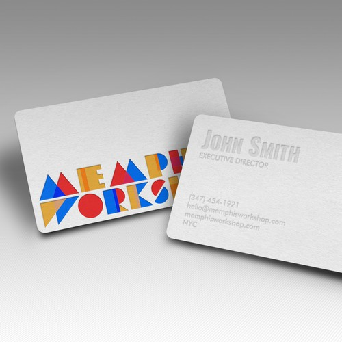 Subtle design with the title 'Blind Letterpress Business Card'