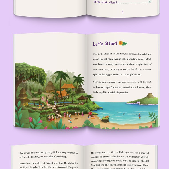 Bali design with the title 'Enchanting Children's Book'