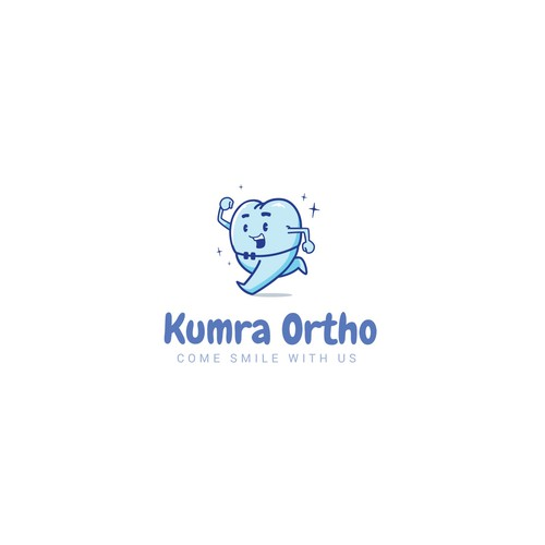 Orthodontist logo with the title 'Running tooth (For Sale)'