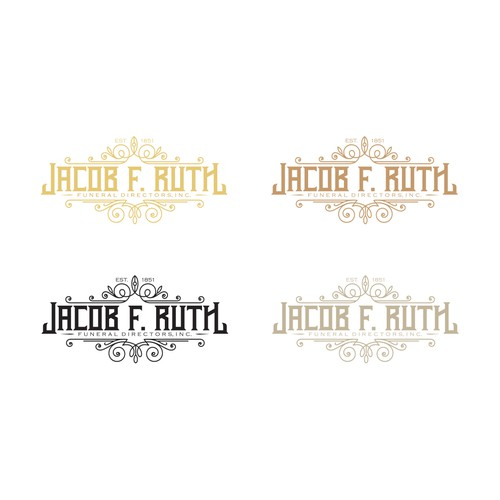 Funeral logo with the title 'Jacob F. Ruth Funeral Directors, Inc. '