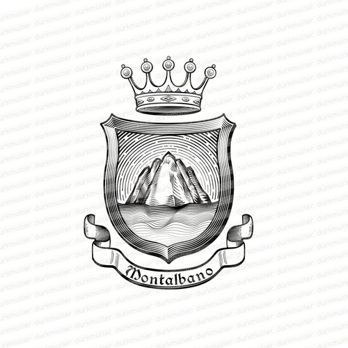 Family crest design with the title 'Family Crest'