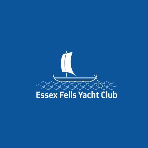 Yacht club design with the title 'Logo design for Essex Fells Yacht Club'