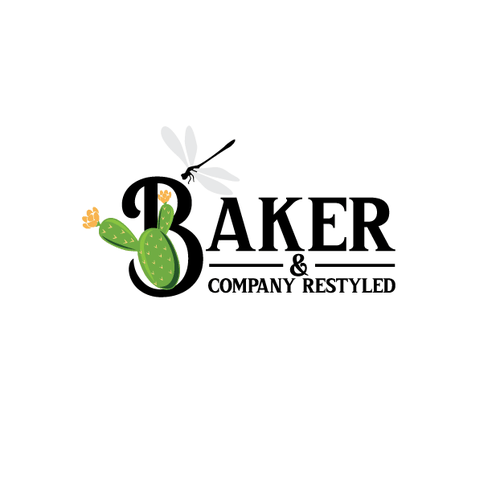 Bloom logo with the title 'Logo concept for Baker & company restyled'