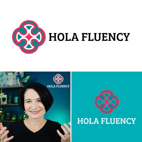 Latin logo with the title 'Stunning Logo Spanish Language-Learning Vlog and Blog'