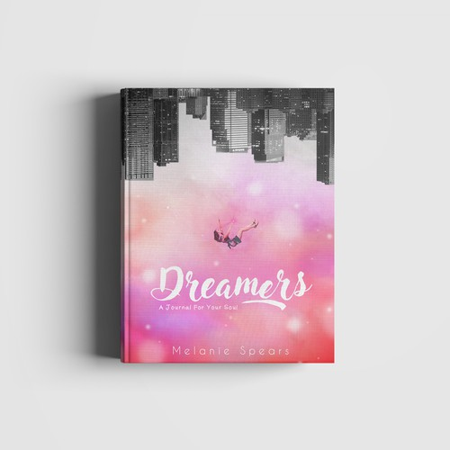 Journal book cover with the title 'Dreamers'