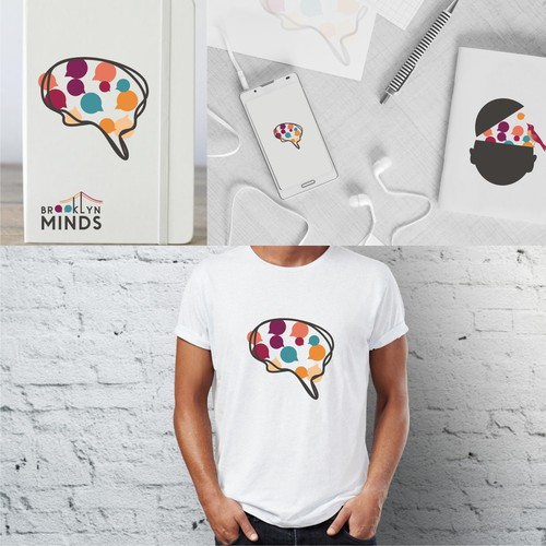 Mental health design with the title 'BROOKLYN MINDS'