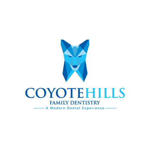 Wolf brand with the title 'Coyote Hills Family Dentistry'