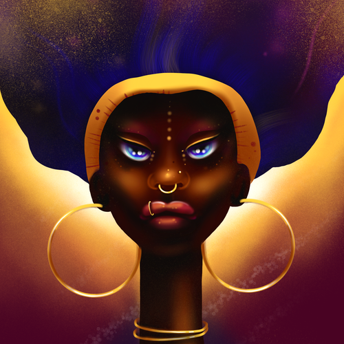 Style illustration with the title 'Artwork Inspired by Black/African American Culture for IzzyLiv'