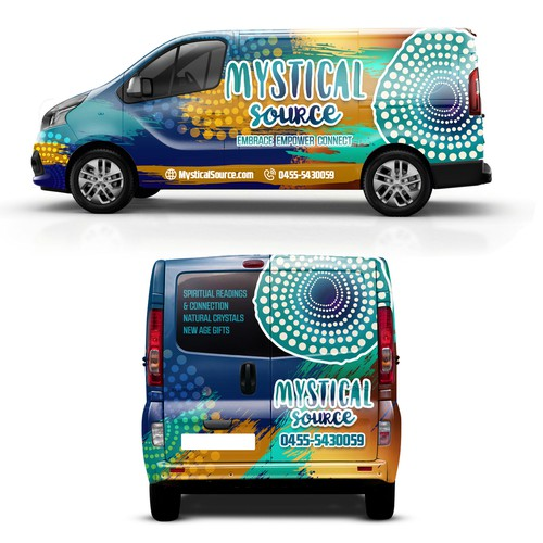 Wrap design with the title ' Mystical Source Van Wraping '