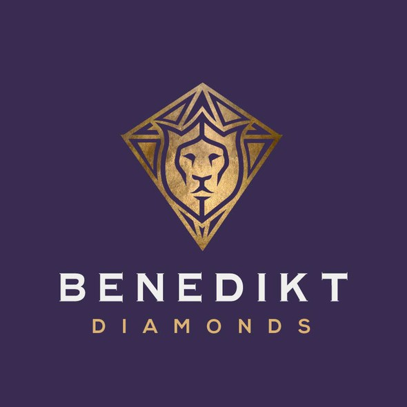Geometric lion logo with the title 'Sophisticated logo (with an African twist) for a luxury jewelry brand'
