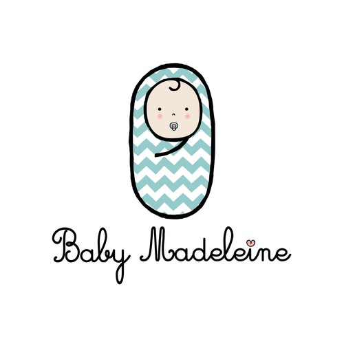Trend logo with the title 'Logotype proposal for Baby Madeleine '