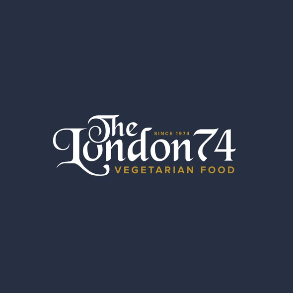 Curries logo with the title 'The London 74 - Logo Design'