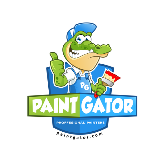 Crocodile design with the title 'Paint Gator'