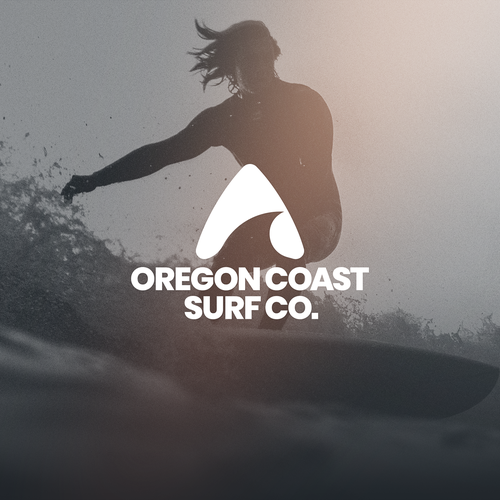 Vintage surf logo with the title 'Iconic Logo for a Surfing Brand'