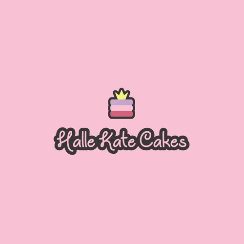 Princess logo with the title 'A Cake with a Crown.'