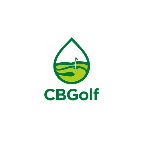 Stick design with the title 'CBGolf Logo winner'