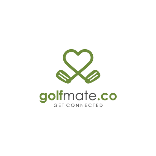 Golf design with the title 'golfmate.co'