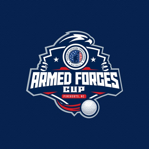 Series logo with the title 'logo golf for Armed Forces Cup'