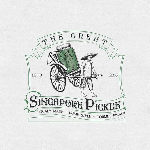 Pickle design with the title 'Singapore Pickle'