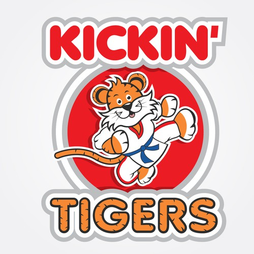 Dojo logo with the title 'Bold logo concept for Kickin Tigers'