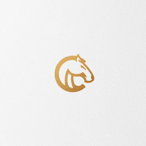 Gold logo with the title 'Cerci Equestrian logo'