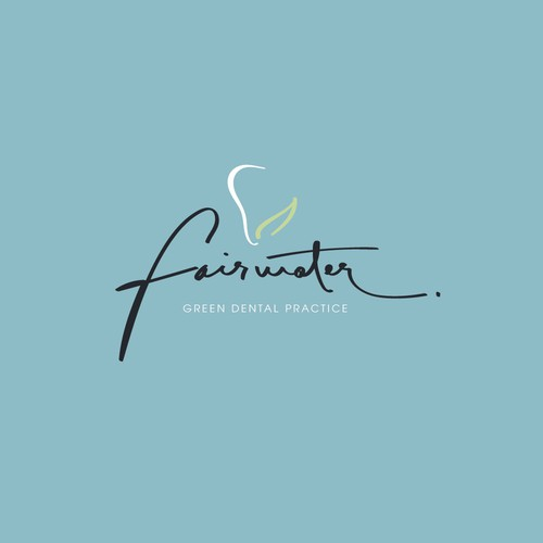 Handwritten logo with the title 'Hand written signature style logo concept'