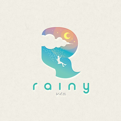 Midnight logo with the title 'Rainy Logo Concept'