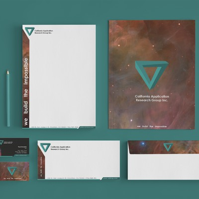Stationery, Business Card, and Logo for Tech Company