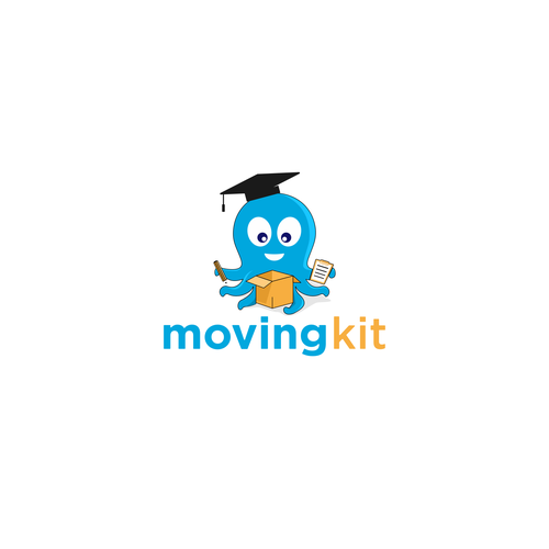 Moving company logo with the title 'moving app'