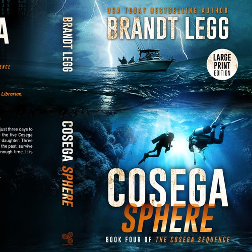 Adventure book cover with the title 'Cosega Search - Book Four of The Cosega Sequence'