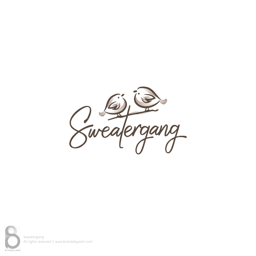 Signature logo with the title 'Logo Design for Sweatergang'