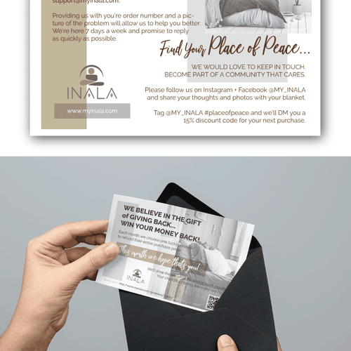 Flayer design with the title 'Postcard Design'