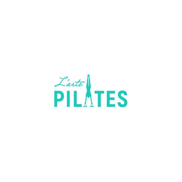Yoga logo with the title 'L'arte Pilates Logo'