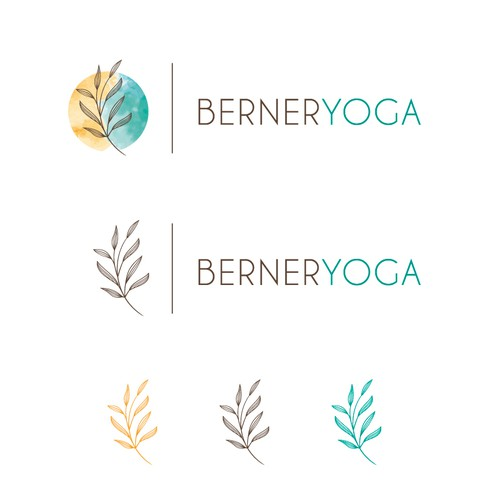 Peaceful logo with the title 'Berner Yoga logo'