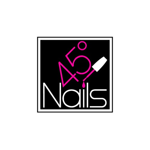 Nail polish logo with the title 'logo for 45° Nails'