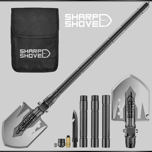Shovel design with the title 'SHARP SHOVEL'