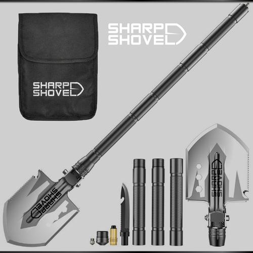 Shovel design with the title 'SHARP SHOVEL'