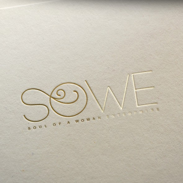 Green and white logo with the title 'Sowe logo design'