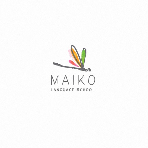 Doodle design with the title 'Maiko'